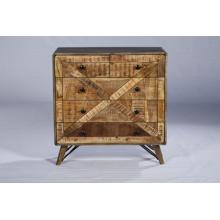 Cobertura de gaveta de madeira de sala de estar industrial vintage
