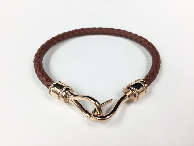 Fish Hook Buckle Leather Bracelet