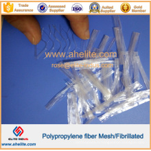Fibre fibrillée à haute résistance en polypropylène