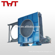 Goggle valve open type blind valve for blast furnace gas