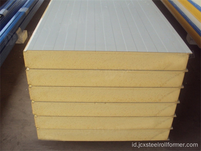 Z-Lock EPS / Rockwool Sandwich Mesin Panel Atap