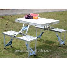 Роскошная прочная легкая чистка складной стол для пикника