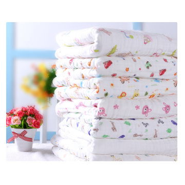 Muslin Cotton Kids Blanket, Baby Swaddle Blanket with 90X90cm