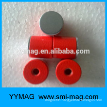 high quality red paint alnico pot magnets