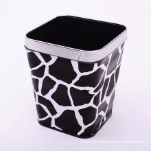 Diseño de piedra negra Cubierta de basura de estilo europeo PU