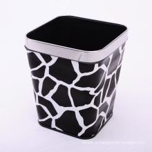 Черный Камень Дизайн PU Крытый Европейский Стиль Мусорный ящик