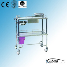 Stainless Steel Hospital Medical Dressing Cart (Q-8)