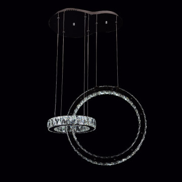 two ring chandelier hanging lighting modern light