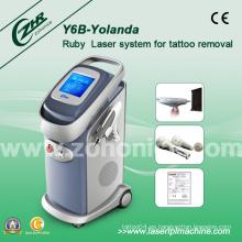 Potente Qswitch ND YAG máquina de eliminación de tatuajes láser Y6b