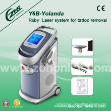 Poderoso Qswitch ND YAG máquina de remoção de tatuagem a laser Y6b