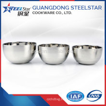2017 Best Selling Product Korean style stainless steel insulated deep mixing bowl and fresh bowl