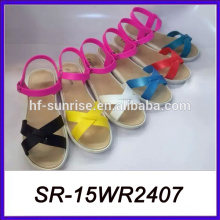 Neue Pantoffeln und Sandalen Damen flache Sandalen Seilsandalen
