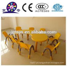 JQP4412 Kids plástico mesa e cadeira baratos móveis brinquedo