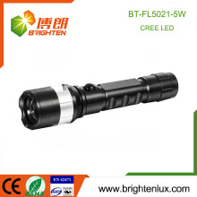 Factory Wholesale 1 * 18650 Batterie rechargeable Powered Zoom-able 5W Strong Light Emergency 3.7v Rechargeable led Flashlight