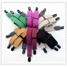 Femmes élastiques colorées clips bretelles bretelles