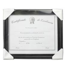 "High Quality 8.5""x11"" Plastic Document Frame"