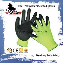Sicherheits-Handschuh, 13G Hppe Sicherheit PU beschichtet schneiden resistent Handschuh Level Grade 3