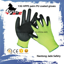 13G PU Coated Cut Safety Work Luves Nível Nível 3 e 5