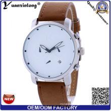 Yxl-263 Hot Sale Good Quality Watch Genuine Leather Promotion Men Women Wrist Watch Quartz Calendar Date Luxury Watches