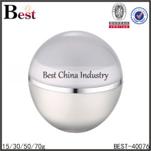 big screw cream jar for packange,big sphere screw cream jar