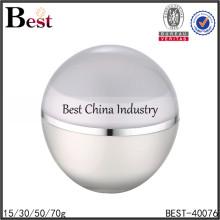 big screw cream jar for packange,big sphere screw cream jar