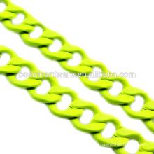 Fashion High Quality Metal Colorful Aluminum Flat Curb Chain