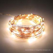 Фестиваль свадьба украшение Лампа 20 светодиодов Рождественские огни крытый 2м строка LED медный провод Фея огни