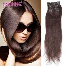 100% pince à cheveux brésilienne dans les extensions de cheveux