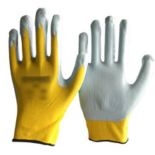NMSAFETY mais barato preço de fábrica luvas de nitrilo amarelo na China EN 388