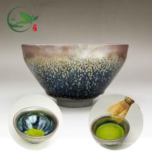 Handgemachte kundenspezifische Logo-traditionelle chinesische Kaninchen-Haar-keramische Matcha Chawan Schüssel