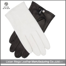 Wholesale Men's Italian Thin Officer Dress white color Leather Gloves