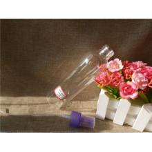 Bouteille en plastique transparent 150 ml avec distributeur bleu (PETB-07)