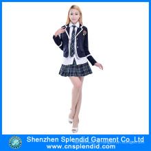 Kundenspezifische japanische Schulmädchen-Uniform-Highschool Uniform-Entwürfe
