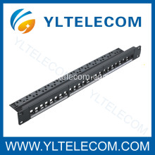 24Port Keystone Mount Patch Panel con cavo Manager