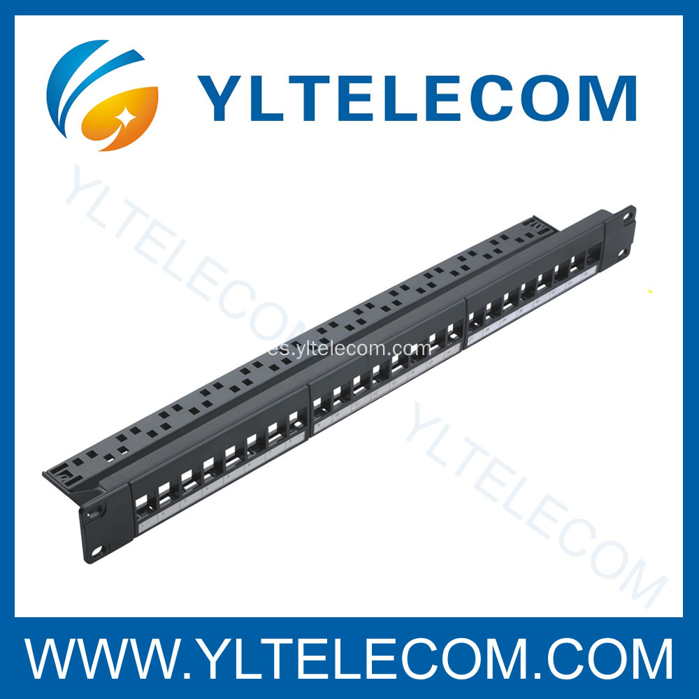 24port Keystone montaje Patch Panel con Cable Manager