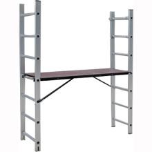 Sistema de andamios de escalera de 4 al 6 alu con EN131 / SGS, escalera de andamio de aluminio