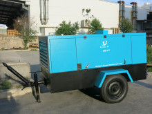 Germany Air End 7Bar Diesel Portable Compressor for Gas Pipeline