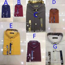 Hot Sale 2014 Multi-Color Texturisé Hommes T-Shirts Mode Business Shirts Vente en gros en Chine NB0559