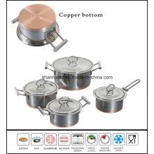 Copper Bottom Cookware Stainless Steel Hot Pot Set