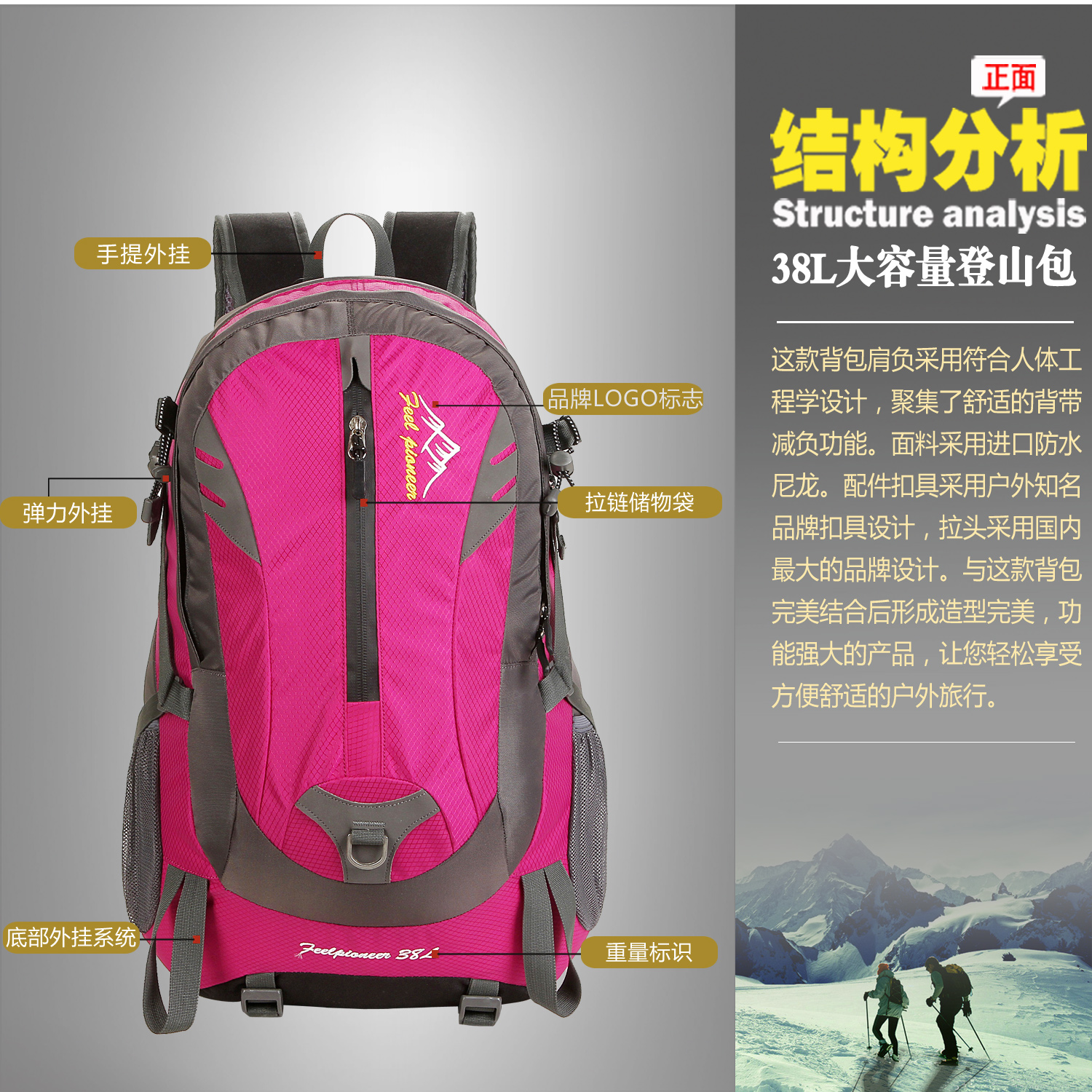 2018 personalized soprt backpacks