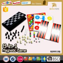 Brinquedos educativos do jogo do magnetismo 8 em 1 para miúdos
