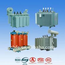 Pérdida de carga aceite inmerso eléctrica distribución transformador