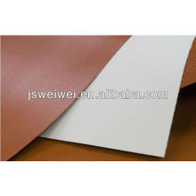 China silicone rubber coated fiberglass fabric one side or two sides coating in different colors with super width max. 3.45m