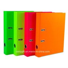 Calidad A4 Rojo / naranja / verde carpeta de archivo de arco de palanca de PVC