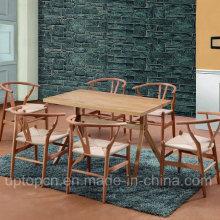 Conjunto de móveis de madeira para o restaurante com cadeira e mesa retângulo (SP-CT729)