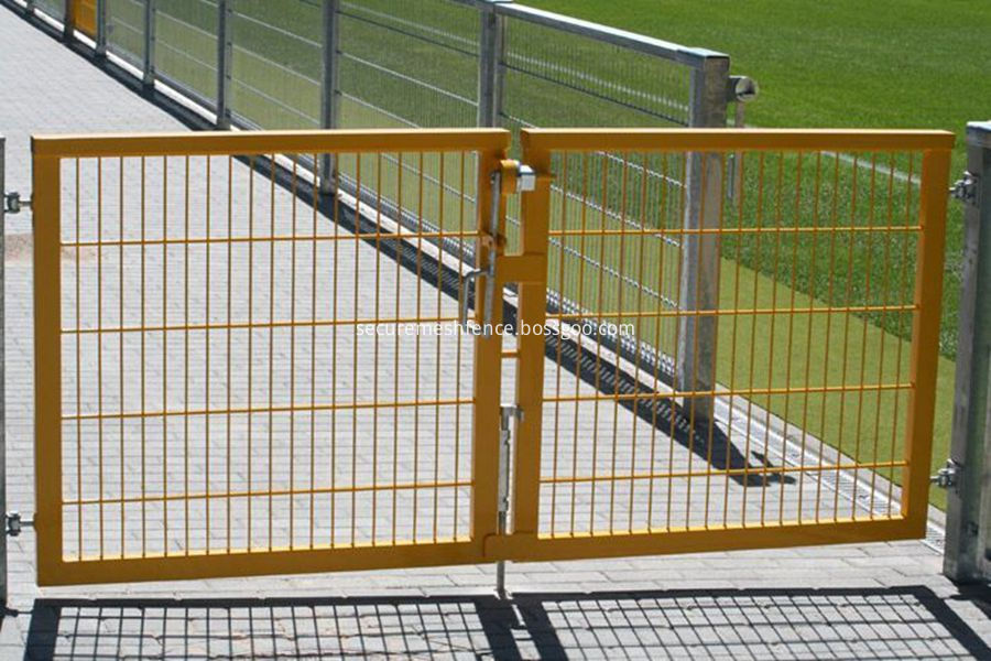 wire mesh fence double gate
