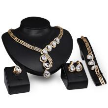 Conjuntos de jóias de aniversário de gota de água de zircão claro (C-XSST0059)
