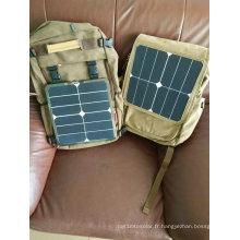 Chargeur solaire portatif de banque de puissance de téléphone portable de 6W
