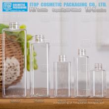 TB-K Series 60ml 100ml 120ml 250ml 500ml clássica única camada cor útil injeção sopro plástica garrafa quadrado pet