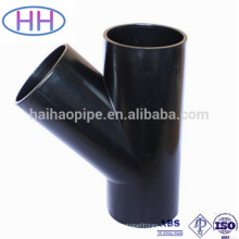 asme b16.9 carbon steel 45 degree y branch pipe fitting lateral teee
